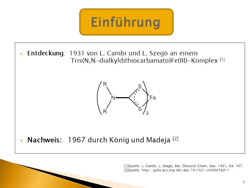 Einführung Nachweis: 1967 durch König und Madeja [2]